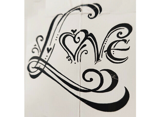 Impression Obsession Love Rubber Cling Stamp #15066