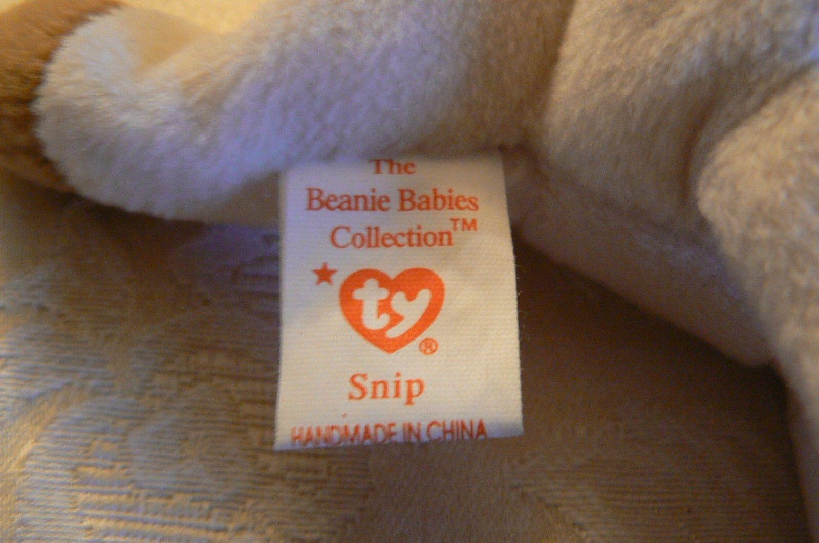 "Vintage Ty Beanie Babies Snip "" The Cat "" Tush Tag 1996 PVC Pellets No Hang Tag"