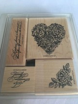 Stampin Up Kindness Shared Mounted Stamp Set of 4 Heart To Someone Speci... - $18.00