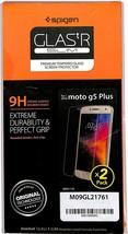 Spigen GLAStR Tempered Glass Screen Protector for Moto G5 Plus 2 Pack - $7.91