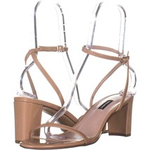 Nine West Provein Ankle Strap Block Heel Sandals 109, Light Natural, 11 US - $25.91