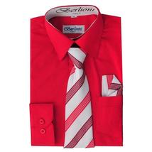Berlioni Italy Toddlers Kids Boys Long Sleeve Dress Shirt Set With Tie & Hanky image 14