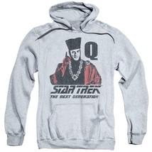 Star Trek The Next Generation Q USS Enterprise Retro 80's graphic hoodie CBS1373 image 1