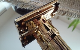 Vintage Gillette Adjustable Slim Safety Razor L4 Dating   Recently Plated in Awe - $189.95