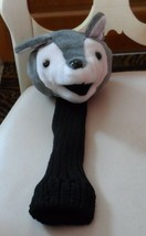 "gray and white fox Golf Club Cover Plush faux fur 14""  - $19.50"