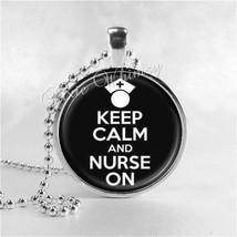 NURSE Necklace, Nurse Jewelry, Nurse Pendant, Gift for Nurse, Glass Phot... - $11.95
