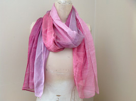 Pink Watercolor Fashion Scarf 68 inches long 24 inches wide