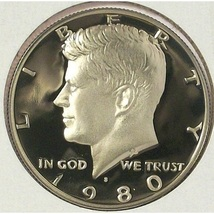 1980-S DCAM Proof Kennedy Half Dollar PF65 #478 - $2.67