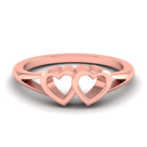 Love Ring Jewelry Womens Anniversary Gift Solid 14k Rose Gold Ring Her F... - $429.99