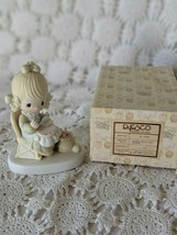 Enesco Precious Moments Mother Working Needle Point Figure 1979 - $9.69