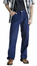 Dickies Mens Relaxed Fit Carpenter Utility Jean, Indigo Blue 44x30 #J78 - $32.99