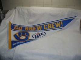 Milwaukee BREWERS-MILLER LITE Large Pennant-MLB-Baseball-Ball Park-Colle... - $19.95