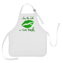 Kiss the Cook I'm Irish Apron, St Patricks Day Apron, St Patricks Day Ap... - $16.95