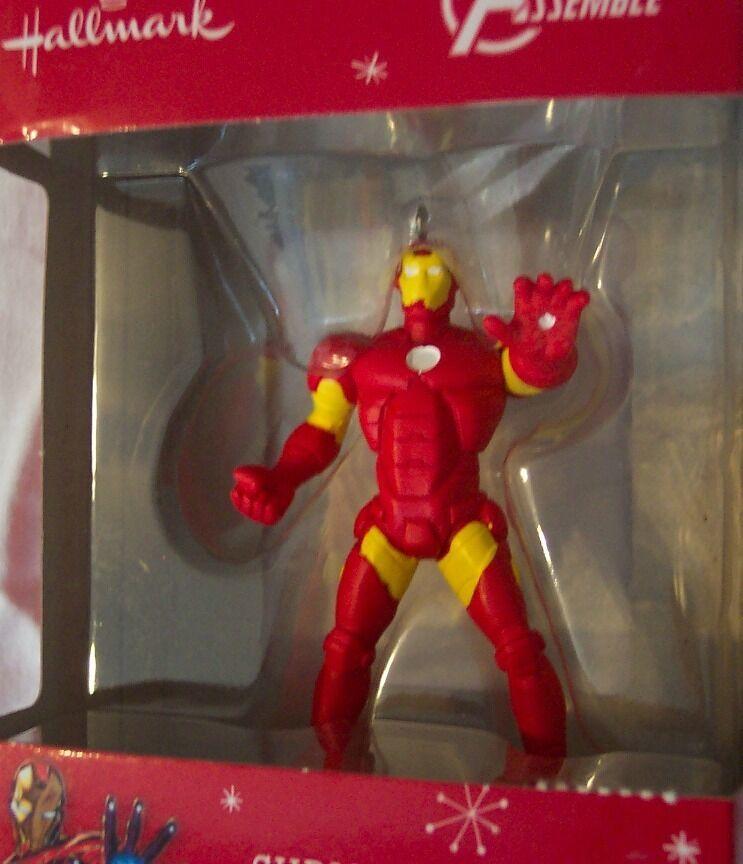 "HALLMARK Marvel Comics Avengers IRON MAN 3"" HOLIDAY CHRISTMAS TREE ORNAMENT NEW"