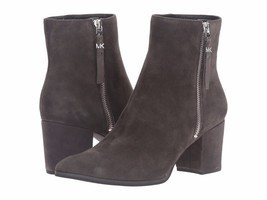 MICHAEL Michael Kors Dawson Mid Bootie Charcoal Kid Suede Boot $199 Mult Sz - $139.99
