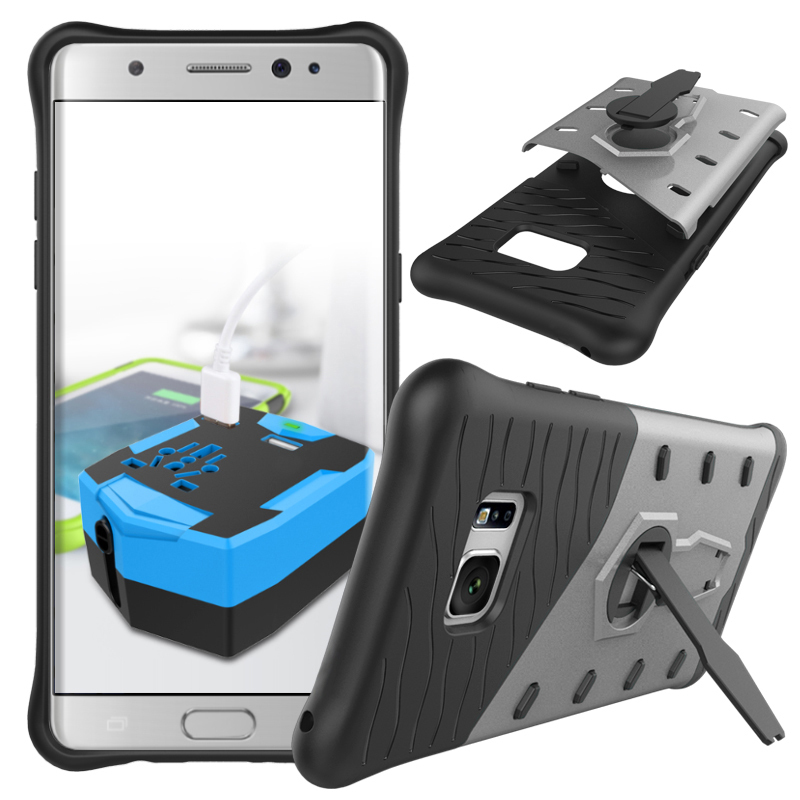 shockproof hybrid kickstand protective case for samsung galaxy note 7 silver p20160819145544889