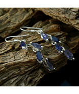 jaipur 925 Sterling Silver cute genuine Blue Earring gift UK - $21.52