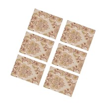 6Pc Elegant Flrocade Jacquard Table Placemats 11.8 X 15.7 In - $56.99