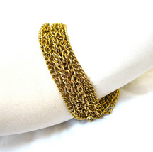 Multi Chain Bracelet, Multiple Chains, Strong Snap Clasp, Snap Closure, ... - $17.00