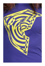Famous Stars & Straps Womens Juniors Purple Yellow Twisted BOH T-Shirt NWT image 1