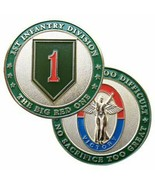 """ARMY 1ST INFANTRY DIVISION BIG RED ONE MILITARY 1.75"""" CHALLENGE COIN - €16,11 EUR"""