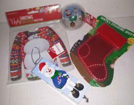 4 Stocking Stuffers Kid Ornament Basketball Cube Snowman Ugly Sweater No... - $6.52