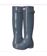 HUNTER Women's Original Tall Gloss Rain Boots Graphite, Sz 5 (uk 3) - $99.00