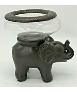 Elephant Stand & Fish Bowl Aquarium Terrarium Candle Holder Home Trends ... - $29.99