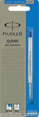 1 x Parker Quink Flow Ball Point Pen Refill BallPen Blue Medium Brand New Sealed