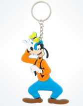 Disney Parks Goofy Rubber Keychain With Keyring New - £7.71 GBP