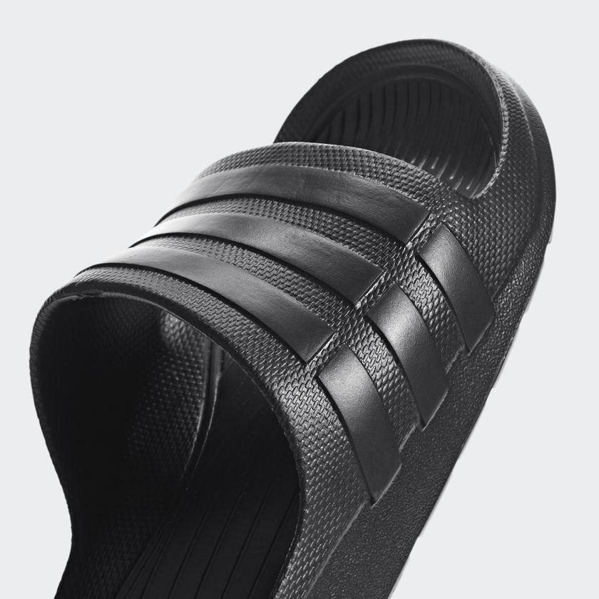new arrival fbe65 23353 Adidas Men s Duramo Slide Sandals Beach Shoes Flip Flops S77991 - Black