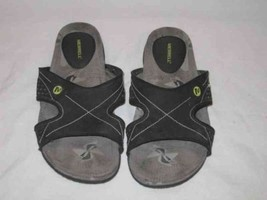 Neat Womens Size 9 MERRELL Black Grey Slides Sandals Shoes - $75.28