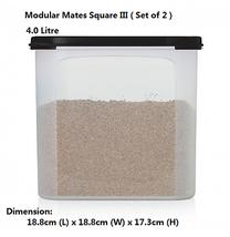 Tupperware Modular Mates Square III (Set of 2) Black  - $43.93