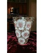 Vintage Studio Nova Pansy Bouquet Lead Crystal Vase. Discontinued Pattern - $97.45