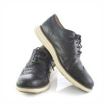 Cole Haan Grand OS Black Leather Brogue Wingtip Oxfords Shoes Mens 11.5 M C21130 - $59.31