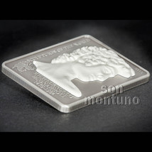 MICHELANGELO'S DAVID - Antique Finish Sterling Silver Art Coin 2015 Cook... - $79.00