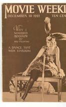 MOVIE WEEKLY Dec 16 .1922. VALENTINO - VERY RARE - MADAME PETROVA CENTER... - $160.05