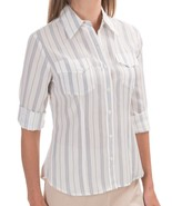 NWT $109 Pendleton Womens Chevron Stripe Button Down Shirt sz 8 PETITE - $34.64