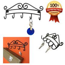 5 Hook Key Rack Scroll Swirling Wall Mount Orga... - $8.92