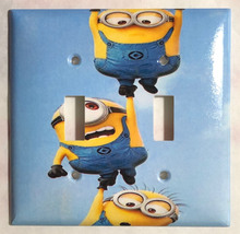 Minions One by One up Light Switch Power Outlet wall Cover Plate Home decor image 3