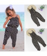 Toddler Kids Baby Girl Summer Strap Romper Jumpsuit Harem Pants Trousers... - £11.61 GBP