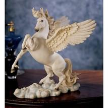 Greek Mythology Poetic Pegasus Flying Horse Equestrian Sculpture Statue ... - $73.25