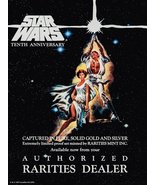 Star Wars Movie Reproduction 10th Anniversary Proof Set Ad Stand-Up Disp... - $16.99