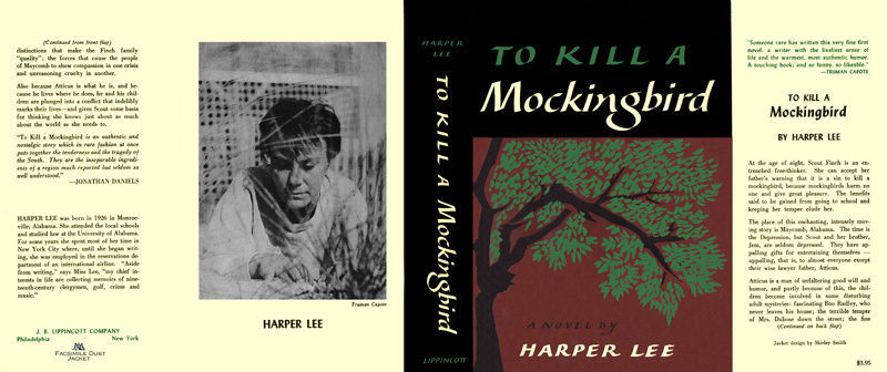 Harper Lee TO KILL A MOCKINGBIRD facsimile dust jacket for first & early edns.