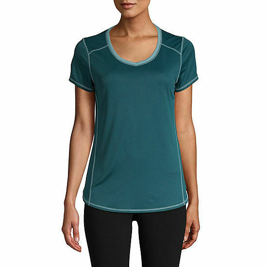 Primary image for NWT St John's Bay Active  Quick-Dri  DARK TEAL Short Sleeve Tee  XLARGE