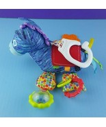 Eric Carle Plush Blue Horse Baby Hanging Toy Rings Rattles Teether Crink... - $14.84