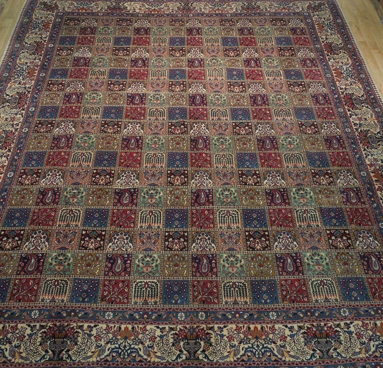 9 x 13 Fine Quality Complex Design Multi-Color Bakhtiari Persian Rug image 9