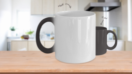 Too Much Yoga Can Make You Hot Warning Color Changing Coffee Mug Cup - $19.95