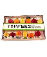 Vintage Cake Topper Favor Hors D'oeuvres Picks Fruits Decorations Japan ... - $11.95