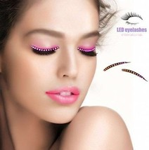 WallyDeals Interactive LED Eyelashes Waterproof 10 Modes F. Lashes Eyel... - $12.23